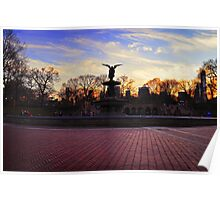 Central Park - Angel of the Fountain Poster