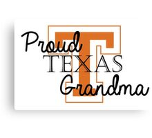 Proud Texas Grandma 2 Canvas Print