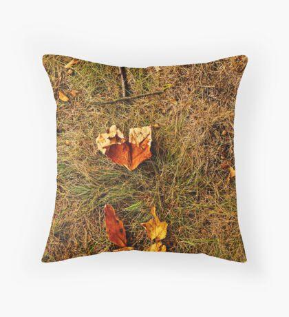 I Leaf You Throw Pillow