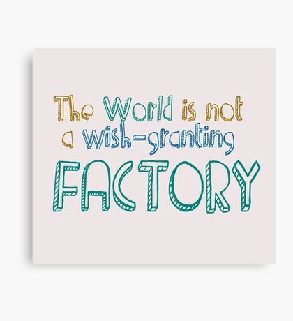 THE FAULT IN OUR STARS - FACTORY Canvas Print