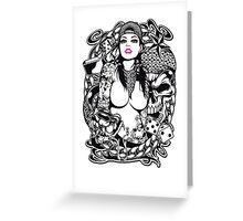 Swagg Tattoo Girl Greeting Card