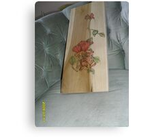 Red Roses, and bud Canvas Print