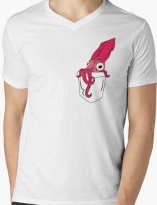 Pocket Squid Mens V-Neck T-Shirt