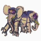 Ancient Psychic Tandem War Elephant by NOFICCION