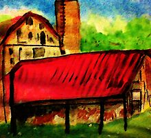 The old homestead, watercolor by Anna  Lewis