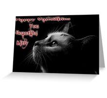 Valentine Kitty Greeting Card