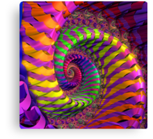 Coloured Spiral wheel Canvas Print