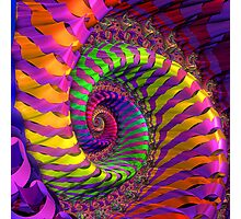 Coloured Spiral wheel Photographic Print