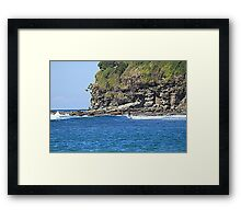 Moffat Beach Surfer Framed Print