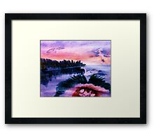 Must protect the nest, series, watercolor Framed Print