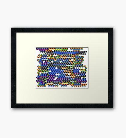 Q Cubes Framed Print