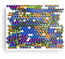 Q Cubes Metal Print