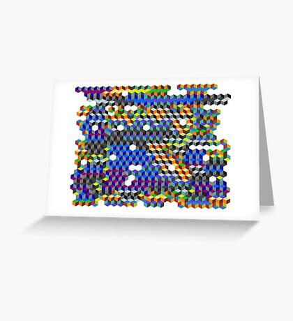Q Cubes Greeting Card