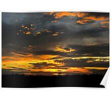 Derbyshire Sunset Poster