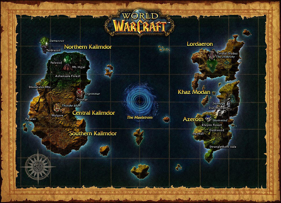 World Of Warcraft Poster - Map by ImmuneShockwave