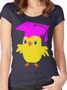 ღ°ټGorgeous Blue Eyed Nerd Chick on a Graduation Cap Clothing& Stickersټღ° Women's Fitted Scoop T-Shirt