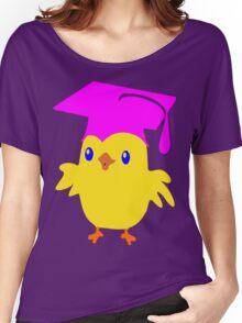 ღ°ټGorgeous Blue Eyed Nerd Chick on a Graduation Cap Clothing& Stickersټღ° Women's Relaxed Fit T-Shirt