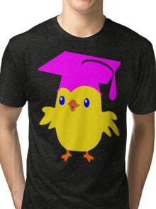 ღ°ټGorgeous Blue Eyed Nerd Chick on a Graduation Cap Clothing& Stickersټღ° Tri-blend T-Shirt