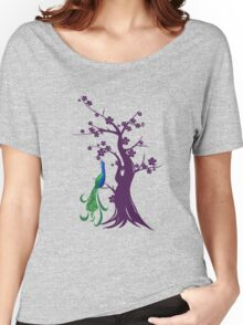 peacock blossoms Women's Relaxed Fit T-Shirt