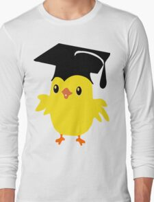 ღ°ټAdorable Nerd Chick on a Graduation Cap Clothing& Stickersټღ° Long Sleeve T-Shirt