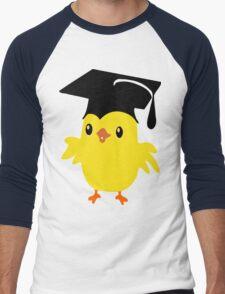 ღ°ټAdorable Nerd Chick on a Graduation Cap Clothing& Stickersټღ° Men's Baseball ¾ T-Shirt