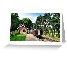 Holt Station Norfolk Greeting Card