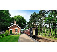 Holt Station Norfolk Photographic Print