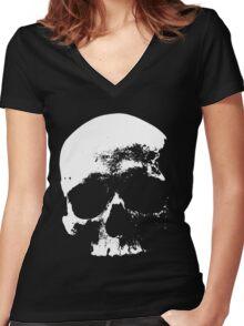 Memento Mori (Skull) Women's Fitted V-Neck T-Shirt