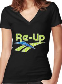RE-UP Women's Fitted V-Neck T-Shirt