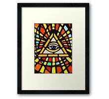 EYE OF PROVINDENCE Framed Print