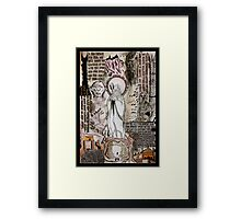 The Two Towers Dada Doll Framed Print