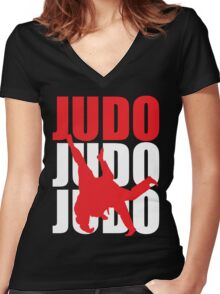 Judo Women's Fitted V-Neck T-Shirt