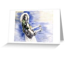 Led Zeppelin Jimi Page Greeting Card