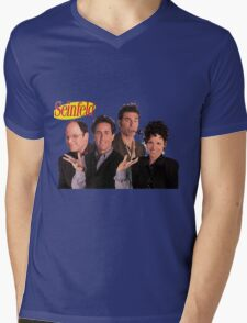 Seinfeld Cast Mens V-Neck T-Shirt