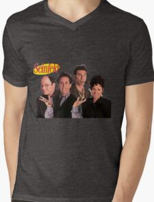 Seinfeld Cast Mens V-Neck T-Shirt