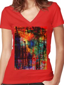 the city 31a Women's Fitted V-Neck T-Shirt