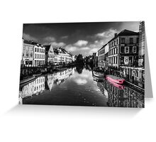 Reflections over Ghent (with pink) Greeting Card