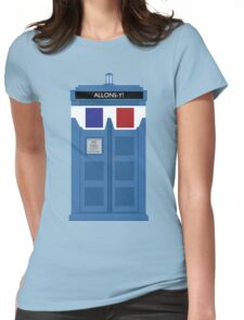 Allons-y! Tardis Womens Fitted T-Shirt