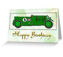 Bentley 4.5ltr - Happy Birthday card Greeting Card