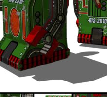 Tin Clockwork War Bot Destroy Humans Sticker