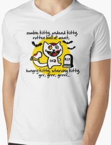 zombie kitty, undead kitty, rotten ball of meat... Mens V-Neck T-Shirt