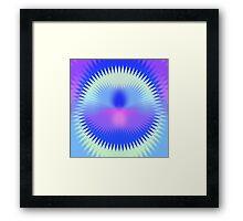 Twenty-Five Past Concentric Waves Framed Print