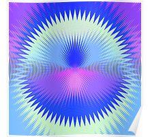 Twenty-Five Past Concentric Waves Poster