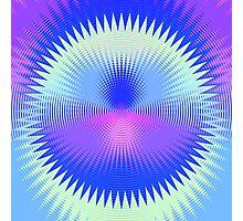 Twenty-Five Past Concentric Waves Photographic Print