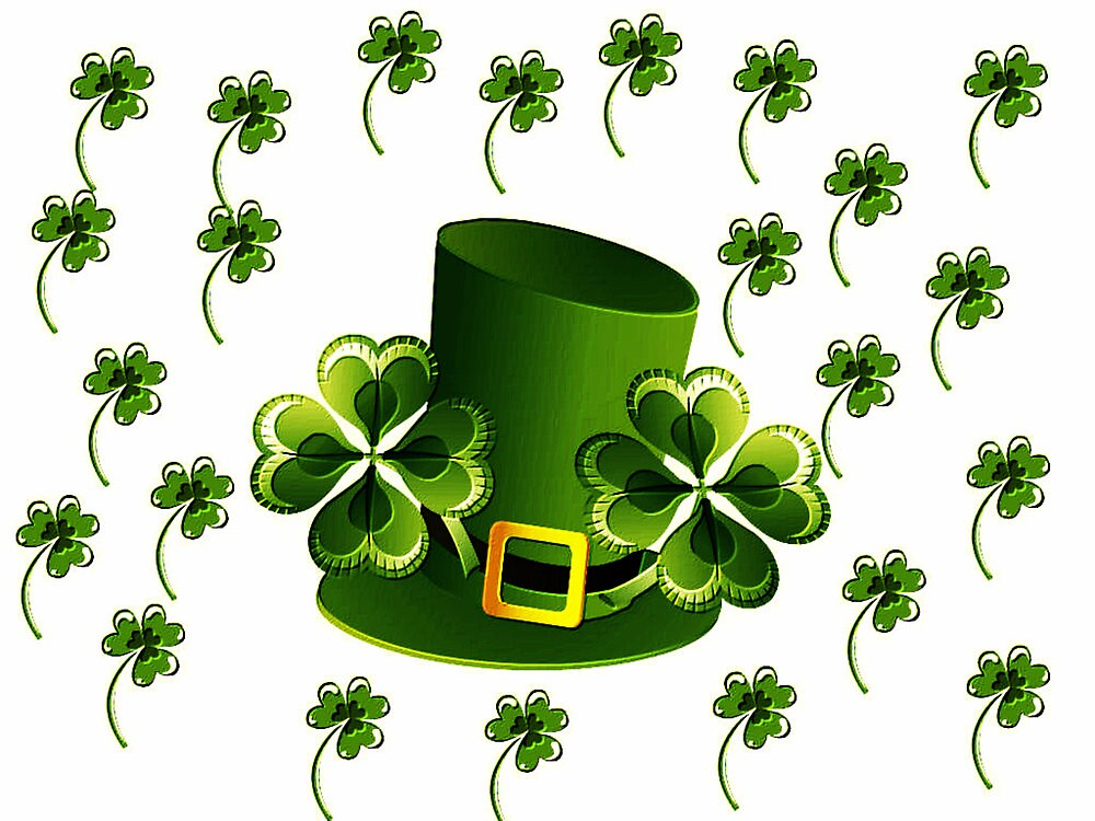 Saint Patricks Shamrock Hat by kasseggs