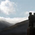 Commando Memorial in the Scottish Highlands by Richard Flint