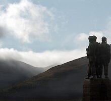 Commando Memorial in the Scottish Highlands by Richard Flint