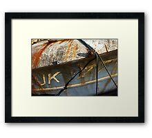 Trawler Bow Stiil-life Framed Print