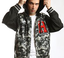 camouflage varsity jacket by Anthony Slaughter
