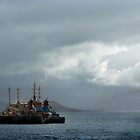 Ships moored near Skye by Richard Flint